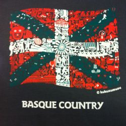 Camiseta Ikurriña Basque Country - Kukuxumusu
